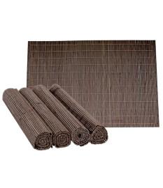 Jogo americano 04 peças bambu marrom mimo