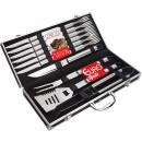 Conjunto para churrasco 16 peças com maleta euro