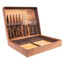 Jogo churrasco 15 peças inox e madeira polywood tramontina